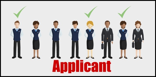"""Graphic of professionals with text """"applicant"""""""