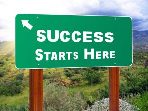 "Road sign, ""success starts here"" - getting started with your affirmative action plan"